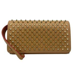 Christian Louboutin Macaron Spike Brown Leather